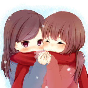 Rating: Safe Score: 0 Tags: 2girls ^_^ blush closed_eyes cold holding long_hair multiple_girls nukochan original ponytail purple_eyes red_scarf scarf smile snow sweater User: DMSchmidt
