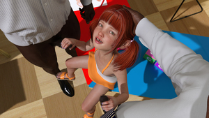 Rating: Explicit Score: 13 Tags: 1girl 2boys 3dcg age_difference bangs blunt_bangs censored double_handjob flat_chest freckles green_eyes handjob lunarctic missing_tooth multiple_boys penis photorealistic red_hair sandals twin_tails User: fantasy-lover