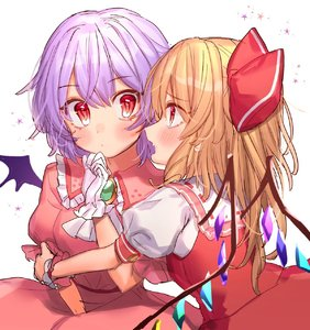 Rating: Safe Score: 0 Tags: 2girls bangs bat_wings blush bow breasts brooch cravat crystal dress eyebrows_visible_through_hair fang flandre_scarlet frilled_shirt_collar frills gloves hair_bow hand_up highres jewellery lavender_hair long_hair looking_at_another masanaga_(tsukasa) multiple_girls no_hat no_headwear open_mouth pink_dress profile puffy_short_sleeves puffy_sleeves red_bow red_eyes red_skirt red_vest remilia_scarlet shirt short_hair short_sleeves siblings simple_background sisters skirt skirt_set small_breasts touhou_project upper_body vest white_background white_gloves white_neckwear white_shirt wings User: DMSchmidt