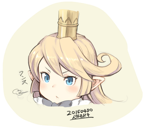 Rating: Safe Score: 0 Tags: >:< 1girl 2015 >:< blonde_hair blue_eyes charlotta_fenia crown dated granblue_fantasy jingai_modoki long_hair pointy_ears solo upper_body User: DMSchmidt