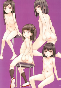 Rating: Explicit Score: 7 Tags: 4girls :o absurdres anus ass ass_grab bandaid bandaid_on_pussy black_eyes black_hair black_legwear blush closed_mouth collarbone eyebrows_visible_through_hair flat_chest focke_wulf highres long_hair looking_back multiple_girls nipples nude original pubic_hair scan shiny shiny_hair shoe_soles shoes simple_background sitting stool User: Domestic_Importer