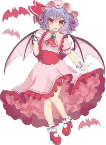 Rating: Safe Score: 0 Tags: 1girl :d ascot bangs bat bat_wings beni_kurage blue_hair blush bobby_socks brooch dress eyebrows_visible_through_hair frilled_shirt_collar frills hair_between_eyes hand_up hat hat_ribbon highres jewellery looking_at_viewer mary_janes mob_cap open_mouth petticoat pink_dress pink_headwear puffy_short_sleeves puffy_sleeves red_eyes red_footwear red_neckwear red_ribbon red_sash remilia_scarlet ribbon sash shoes short_hair short_sleeves simple_background smile socks solo touhou_project useless_tags white_background white_legwear wings wrist_cuffs User: DMSchmidt