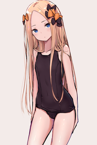 Rating: Safe Score: 2 Tags: 1girl abigail_williams_(fate/grand_order) absurdres alternate_costume bangs black_bow black_school_swimsuit blonde_hair blue_eyes blush bow breasts collarbone covered_navel fate/grand_order fate_(series) gantan hair_bow head_tilt highres long_hair looking_at_viewer one-piece_swimsuit orange_bow parted_bangs polka_dot polka_dot_bow school_swimsuit simple_background sketch small_breasts solo standing swimsuit very_long_hair User: DMSchmidt