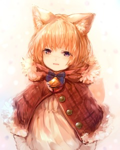 Rating: Safe Score: 0 Tags: 1girl animal_ears bangs bell blonde_hair blue_bow blue_bowtie blush bow bowtie buttons capelet cat_ears dress eyebrows_visible_through_hair fur_trim highres jingle_bell kid looking_at_viewer original parted_lips purple_eyes sad short_hair solo sukemyon tearing_up upper_body white_dress User: DMSchmidt