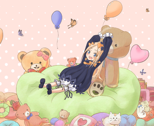 Rating: Safe Score: 0 Tags: 1girl abigail_williams_(fate/grand_order) arms_up balloon bangs black_bow black_dress black_footwear blonde_hair bloomers blue_eyes bow bug butterfly dress fate/grand_order fate_(series) hair_bow heart insect long_hair long_sleeves no_hat no_headwear orange_bow parted_bangs pillow polka_dot polka_dot_background polka_dot_bow sakazakinchan shoe_soles shoes sitting sleeves_past_fingers sleeves_past_wrists solo stuffed_animal stuffed_toy teddy_bear underwear very_long_hair white_bloomers User: DMSchmidt