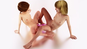 Rating: Explicit Score: 15 Tags: 2girls 3dcg blonde_hair brown_hair climax closed_eyes crossed_legs dildo double_dildo flat_chest multiple_girls nude on_floor open_mouth photorealistic ponytail pussy sex_toy short_hair User: yobsolo