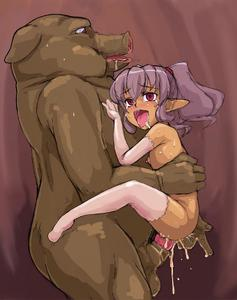 Rating: Explicit Score: 15 Tags: 1girl ahegao anal_fingering beast bestiality blush brown_skin censored copyright_request cum cum_in_pussy elbow_gloves fat_man fingering flat_chest fucked_silly gloves happy_sex held_up highres insertion large_insertion monster muimui nipples open_mouth penis pig pink_legwear pointy_ears pubic_hair purple_eyes purple_hair pussy saliva sex spread_legs sweat tears testicles thighhighs twin_tails vaginal User: DMSchmidt