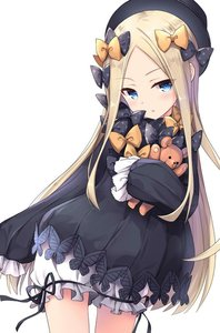Rating: Safe Score: 0 Tags: 1girl :o abigail_williams_(fate/grand_order) bangs bankoku_ayuya black_bow black_dress black_hat black_ribbon blonde_hair bloomers blue_eyes blush bow contrapposto cowboy_shot doll_hug dress eyebrows_visible_through_hair fate/grand_order fate_(series) forehead frills hair_bow hat long_hair long_sleeves looking_at_viewer orange_bow parted_bangs parted_lips ribbon sidelocks simple_background sleeves_past_fingers sleeves_past_wrists solo standing star star_print stuffed_animal stuffed_toy teddy_bear underwear white_background User: DMSchmidt