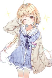 Rating: Safe Score: 0 Tags: 1girl ;) blonde_hair blue_bow blue_dress blush bow brown_eyes brown_jacket candy_wrapper closed_mouth collarbone collared_dress dress futaba_anzu head_tilt idolmaster idolmaster_cinderella_girls jacket long_hair long_sleeves low_twintails one_eye_closed open_clothes open_jacket plaid plaid_dress qlakwnd simple_background sleeves_past_wrists smile solo sparkle striped striped_bow twin_tails very_long_hair white_background User: Domestic_Importer
