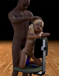 Rating: Explicit Score: 7 Tags: 1boy 1girl 3dcg age_difference barefoot blonde_hair chair closed_eyes danbaddriver dildo flat_chest hand_on_another's_head highres kneeling long_hair navel nipples nude penis photorealistic pubic_hair pussy sex_toy smile standing twin_tails User: fantasy-lover