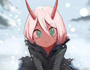 Rating: Safe Score: 1 Tags: 1girl :o bangs darling_in_the_franxx day eyebrows_visible_through_hair green_eyes hair_between_eyes long_hair looking_at_viewer oni oni_horns open_mouth outdoors red_skin robe silver_hair sishenfan sitting snow snowing solo spoilers straight_hair tareme upper_body wariza zero_two_(darling_in_the_franxx) User: DMSchmidt