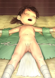 Rating: Questionable Score: 8 Tags: 1girl ass_visible_through_thighs bandaged_leg bandages brown_hair closed_eyes dororo dororo_(tezuka) flat_chest full_cleft lying navel nipples nude ogu on_back open_mouth outstretched_arm ponytail pussy sharp_teeth shiny shiny_skin sleeping solo spread_arms sweat teeth third-party_edit uncensored upper_teeth User: Domestic_Importer