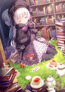 Rating: Safe Score: 2 Tags: 1girl :o alice_(fate/extra) bangs beret biscuit black_bow black_capelet black_dress black_footwear black_gloves black_hat black_legwear blush book_stack bookshelf boots bow cake candy_wrapper capelet checkerboard_cookie chess_piece closed_eyes cup different_reflection doll_joints dress elbow_gloves eyebrows_visible_through_hair facing_viewer fate/extra fate_(series) flower food food_print fur-trimmed_capelet fur_trim gloves gothic_lolita grass hair_down hat hat_bow highres knee_boots lolita_fashion long_hair mushroom mushroom_print nursery_rhyme_(fate/extra) pantyhose parted_lips pixiv_fate/grand_order_contest_2 plate pocket_watch reflection revision rimuu roman_numerals sauce silver_hair sitting slice_of_cake solo spoon striped striped_bow tea teacup teapot very_long_hair watch white_flower yokozuwari User: DMSchmidt