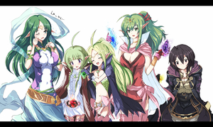 Rating: Safe Score: 1 Tags: 5girls :d ahoge black_hair blush bow braid breasts cape chiki choker circlet cleavage cloak cowtits crying crystal dress echizen fire_emblem fire_emblem_kakusei flat_chest garter_straps gloves green_eyes green_hair hair_ornament hair_ribbon heart large_breasts letterboxed long_hair mark_(fire_emblem) midriff multiple_girls naga_(fire_emblem) nn_(fire_emblem) nono older open_mouth pants pink_legwear pointy_ears ponytail purple_eyes red_eyes ribbon sash shawl short_hair side_braid side_slit skirt smile tears thighhighs translated twin_braids wavy_mouth wince User: DMSchmidt