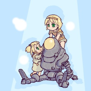 Rating: Safe Score: 1 Tags: 2girls blonde_hair blush carrying fallout fallout_3 green_eyes hair_ribbon hetaren lowres mecha multiple_girls oekaki piggyback protectron ribbon robot sad User: DMSchmidt