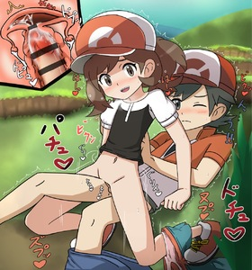 Rating: Explicit Score: 14 Tags: 1boy 1girl baseball_cap black_hair blush brown_hair censored clothed_sex cum cum_in_pussy female_protagonist_(pokemon_lgpe) flat_chest furanshisu girl_on_top grass happy_sex hat heart hetero male_protagonist_(pokemon_lgpe) navel outdoors pantsu pantsu_pull pokemon pokemon_(game) pokemon_lgpe ponytail sex shirt short_shorts shorts shorts_pull shota sitting sitting_on_lap sitting_on_person sky smile text_focus translation_request trembling underwear uterus x-ray User: Domestic_Importer