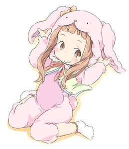 Rating: Safe Score: 2 Tags: 1girl animal_ears bangs brown_eyes brown_hair bunny_costume bunny_ears ham ichihara_nina idolmaster idolmaster_cinderella_girls looking_to_the_side pajamas pink_pajamas smile stuffed_toy tagme_clothing white_background User: Alacaster