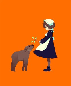 Rating: Safe Score: 0 Tags: 1girl animal apron black_dress black_footwear boots branch brown_legwear dress frills from_side high_heel_boots high_heels holding holding_branch leaf long_sleeves maeya_susumu maid maid_apron orange_background original pantyhose profile simple_background sleeves_past_wrists solo standing white_apron User: DMSchmidt