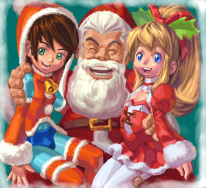 Rating: Safe Score: 0 Tags: 1girl 2boys artist_request capcom christmas multiple_boys red_skirt rockman rockman_(character) rockman_(classic) roll santa_costume skirt thighhighs thomas_light User: DMSchmidt