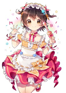 Rating: Safe Score: 0 Tags: 1girl absurdres akagi_miria ankle_bell apron bell blush bow brown_bow brown_eyes brown_hair character_name closed_mouth collarbone frilled_apron frilled_shirt frills hair_ribbon hands_up heart highres holding idolmaster idolmaster_cinderella_girls idolmaster_cinderella_girls_starlight_stage jingle_bell plaid plaid_bow plaid_shirt pleated_skirt puffy_short_sleeves puffy_sleeves red_footwear red_ribbon red_skirt ribbon ribbon-trimmed_apron ribbon-trimmed_shirt ribbon_trim risui_(suzu_rks) shirt shoes short_hair short_sleeves skirt smile socks solo sparkle standing standing_on_one_leg star two_side_up waist_apron white_apron white_background white_legwear wrist_cuffs User: Domestic_Importer