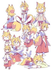 Rating: Safe Score: 0 Tags: /\/\/\ 1girl :> :d :o animal_ear_fluff animal_ears apron bangs blonde_hair covering_mouth eyebrows_visible_through_hair fang flower fox_ears fox_girl fox_tail geta hair_between_eyes hair_flower hair_ornament highres japanese_clothes looking_at_viewer looking_away miko multiple_views open_mouth ribbon-trimmed_sleeves ribbon_trim roku_no_hito senko_(sewayaki_kitsune_no_senko-san) sewayaki_kitsune_no_senko-san short_hair simple_background sitting smile socks standing tail white_background white_legwear wide-eyed wide_sleeves yellow_eyes |_| User: Domestic_Importer