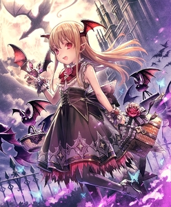 Rating: Safe Score: 0 Tags: 1girl :d artist_request basket bat brown_hair bug butterfly castle cygames dragon earrings eyebrows_visible_through_hair fang flower frilled_skirt frills full_moon head_wings high_heels insect jewellery long_hair looking_at_viewer moon official_art open_mouth pointy_ears red_eyes rose shadowverse shingeki_no_bahamut skirt sleeveless smile solo vampire vampy User: DMSchmidt