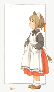 Rating: Safe Score: 1 Tags: 1girl akai_sashimi animal_ears apron black_bow black_ribbon black_skirt blush bow braid braided_bun brown_footwear brown_hair cat_ears cat_girl cat_tail closed_mouth collared_shirt cracker crumbs eyebrows_visible_through_hair food frame frilled_apron frills full_body gradient_ribbon hair_bun hair_ornament hair_ribbon hands_in_pockets highres light_brown_eyes loafers long_sleeves looking_away looking_up maid_apron original outline outside_border profile red_ribbon red_skirt ribbon shirt shoes signature skirt socks solo standing tail tareme white_apron white_background white_legwear User: DMSchmidt