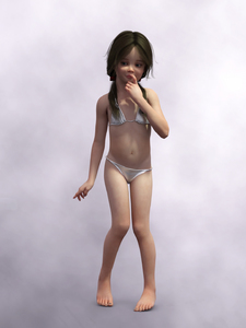 Rating: Explicit Score: 16 Tags: 1girl 3d_custom_girl 3dcg ash_3d barefoot bikini finger_to_mouth flat_chest innocent_girl nail_polish navel photorealistic pose pussy shadow standing swimsuit younger User: theleg01