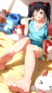 Rating: Safe Score: 2 Tags: 1girl bare_legs barefoot black_hair bow cameo character_doll feet hair_bow highres lilo_&_stitch long_legs looking_at_viewer love_live!_school_idol_project red_eyes stitch_(lilo_&_stitch) toenails twin_tails xiao_ren yawning yazawa_nico User: DMSchmidt