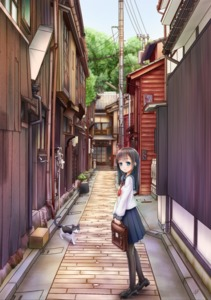 Rating: Safe Score: 0 Tags: 1girl absurdres alley bag bell bell_collar black_hair black_legwear black_shoes blue_eyes bob_cut box briefcase cardboard_box collar drainpipe forest gotou_hisashi highres holding house light_smile loafers long_hair looking_at_viewer nature open_door original pantyhose plant pole potted_plant power_lines sailor_collar school_bag school_uniform serafuku shoes signature skirt sky solo tree User: Domestic_Importer