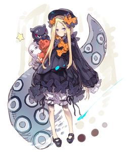 Rating: Safe Score: 0 Tags: 1girl abigail_williams_(fate/grand_order) animal bangs black_bow black_dress black_footwear black_hat blonde_hair bloomers blue_eyes blush bow bug butterfly closed_mouth dress fate/grand_order fate_(series) forehead full_body hair_bow haku_(sabosoda) hat insect long_hair long_sleeves looking_at_viewer mary_janes medjed object_hug octopus orange_bow parted_bangs polka_dot polka_dot_bow shoes sleeves_past_fingers sleeves_past_wrists star stuffed_animal stuffed_toy suction_cups teddy_bear tentacles tokitarou_(fate/grand_order) underwear v-shaped_eyebrows very_long_hair white_bloomers User: DMSchmidt