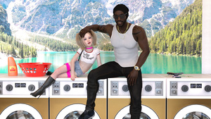 Rating: Safe Score: 9 Tags: 1boy 1girl 3dcg age_difference blonde_hair blue_eyes boots choker fishnets flat_chest gun hand_on_another's_head interracial laundromat looking_at_viewer missing_teeth navel photorealistic poki ring sitting smile sunglasses tooth_cap twin_tails weapon User: fantasy-lover