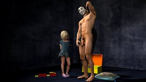 Rating: Explicit Score: 8 Tags: 1boy 1girl 3d_custom_girl 3dcg age_difference blonde_hair dress feet flaccid_penis freckles green_eyes highres looking_down mask necklace nude penis penis_awe photorealistic pillow pubic_hair sandals short_hair snarkmaster testicles toy_box toys uncensored User: Software