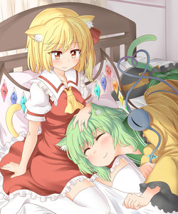 Rating: Safe Score: 0 Tags: 2girls animal_ears ascot bed bed_sheet black_hat blonde_hair blush bow cat_ears cat_tail closed_eyes crystal dress eyeball flandre_scarlet frilled_dress frilled_shirt_collar frills green_hair green_skirt hand_on_another's_head hat hat_bow hat_ribbon heart heart_of_string indoors kemonomimi_mode komeiji_koishi lap_pillow lying multiple_girls nagomian on_bed on_side pillow puffy_short_sleeves puffy_sleeves red_dress red_ribbon ribbon shirt short_hair short_sleeves sitting skirt smile tail third_eye touhou_project white_legwear wide_sleeves wings yellow_bow yellow_neckwear yellow_ribbon yellow_shirt yuri User: DMSchmidt