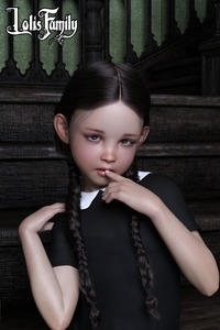 Rating: Safe Score: 16 Tags: 1girl 3dcg black_hair braid brown_eyes flat_chest gothic lolis_family looking_at_viewer nail_polish photorealistic poki short_twin_tails twin_braids twin_tails wednesday_addams User: fantasy-lover