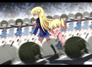 Rating: Safe Score: 2 Tags: 0_0 10s 3girls afterimage alice_cartelet blonde_hair cardigan clone hair_ornament hairclip haribote_(tarao) kin-iro_mosaic kneehighs kujou_karen loafers long_hair multiple_girls oomiya_shinobu open_cardigan open_clothes open_mouth school_uniform shaded_face shoes short_hair skirt solid_oval_eyes tears twin_tails wavy_mouth x_hair_ornament you_gonna_get_raped yuri User: Domestic_Importer