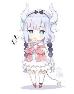 Rating: Safe Score: 1 Tags: +_+ 10s 1girl 2017 black_bow black_ribbon blue_eyes blue_hair blush bow capelet center_frills chibi crepe dated dragon_horns dress eating eyebrows_visible_through_hair food full_body hair_ribbon head_tilt heart hibanar holding holding_food horns kanna_kamui kobayashi-san_chi_no_maidragon long_hair long_sleeves low_twintails number pink_shirt red_shoes ribbon shadow shirt shoes signature solo speech_bubble standing tail thighhighs twin_tails very_long_hair white_background white_dress white_legwear User: Domestic_Importer