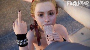 Rating: Explicit Score: 27 Tags: 1girl 3dcg artist_name biohazard blonde_hair braid fellatio flat_chest forehead fuckheadmanip hair_ribbon hand_on_another's_head hetero middle_finger nail_polish natalia_korda oral penis photorealistic pov pov_eye_contact ribbon solo_focus uncensored User: Domestic_Importer