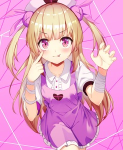 Rating: Safe Score: 1 Tags: 1girl absurdres apron bandages bangs blonde_hair blunt_bangs bunny_hair_ornament collarbone cowboy_shot dress_shirt eyebrows_visible_through_hair finger_to_eye hair_ornament hat heart heart_print highres long_hair md5_mismatch miniskirt natori_sana nurse_cap pink_apron pink_background pleated_skirt red_eyes sana_channel shirt short_sleeves skirt standing tongue tongue_out very_long_hair virtual_youtuber white_shirt white_skirt yiku_(sim7368) User: DMSchmidt