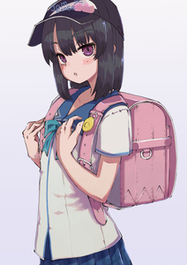 Rating: Safe Score: 1 Tags: 1girl backpack bag baseball_cap black_hair blush crime_prevention_buzzer hat looking_at_viewer open_mouth original purple_eyes randoseru saisho_no_nakama school_uniform short_hair short_sleeves skirt solo User: DMSchmidt
