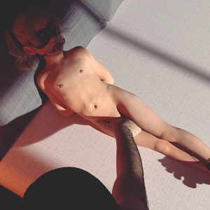 Rating: Explicit Score: 47 Tags: 1boy 1girl 3dcg age_difference arms_behind_back ball_gag barefoot bdsm bed blindfold blonde_hair bondage bound draxlasto hand_between_legs highres looking_up mask navel nipples nude photorealistic pillow rape User: fantasy-lover