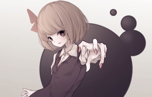 Rating: Safe Score: 0 Tags: 1girl bangs black_sweater blonde_hair blush collared_shirt darkness foreshortening gradient gradient_background hair_ribbon highres hito_komoru looking_at_viewer nail_polish outstretched_arm parted_lips red_nails red_ribbon ribbon rumia shirt short_hair simple_background sweater sweater_vest touhou_project upper_body vest white_shirt User: DMSchmidt