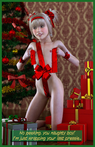 Rating: Questionable Score: 8 Tags: 1girl 3dcg american_girls_paradise blonde_hair bow brown_eyes christmas christmas_ornaments christmas_outfit christmas_tree english flat_chest gift_wrapping hair_bow hairband kneeling nipples photorealistic present ribbon smile solo text tied_hair tooth_gap twin_tails twitchster wrist_cuffs User: Software