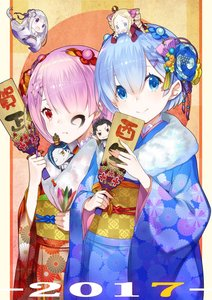 Rating: Safe Score: 0 Tags: 2017 alternate_costume beatrice_(re:zero) blue_hair butterfly butterfly-shaped_pupils chibi emilia_(re:zero) facepaint hagoita hair_ornament highres japanese_clothes kadomatsu kimono lasa_(lasa1116) natsuki_subaru new_year paddle puck_(re:zero) ram_(re:zero) re:zero_kara_hajimeru_isekai_seikatsu rem_(re:zero) siblings sisters twins x_hair_ornament User: Domestic_Importer