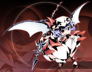 Rating: Safe Score: 0 Tags: 1girl ham_(points) polearm remilia_scarlet solo spear team_shanghai_alice touhou_project weapon wings User: DMSchmidt