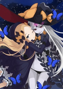 Rating: Safe Score: 1 Tags: 2girls abigail_williams_(fate/grand_order) artist_request bangs black_bow black_dress black_panties blonde_hair bloomers blue_eyes bow bug butterfly dress dual_persona fangs fate/grand_order fate_(series) grey_hair grey_skin hat highres insect long_hair looking_at_viewer multiple_girls one_eye_closed orange_bow pantsu parted_bangs red_eyes smile underwear witch_hat User: DMSchmidt