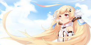 Rating: Safe Score: 4 Tags: 1girl ahoge azur_lane bangs bare_shoulders blonde_hair blush breasts chestnut_mouth cloud cloudy_sky day eldridge_(azur_lane) eyebrows_visible_through_hair facial_mark floating_hair fur_collar gloves hair_ornament highres long_hair looking_away low_twintails one-piece_swimsuit open_mouth outdoors pnt_(ddnu4555) red_eyes sideboob sky small_breasts solo swimsuit twin_tails upper_body white_gloves white_swimsuit wind User: DMSchmidt