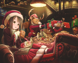 Rating: Safe Score: 1 Tags: 1girl abo_(kawatasyunnnosukesabu) animal black_hair boots box christmas clothed_animal couch cup dress fingerless_gloves fur-trimmed_dress gift gift_box gloves hat holding holding_box indoors inkwell long_hair long_sleeves map mug nail_polish open_mouth original quill red_dress red_footwear reindeer sack santa_claus santa_hat sitting sleigh sweatdrop white_gloves yellow_eyes User: DMSchmidt