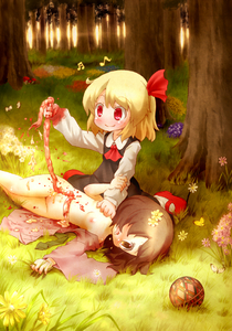 Rating: Questionable Score: 3 Tags: 2girls arinu arm_grab ascot ball beamed_semiquavers blonde_hair blood bottomless brown_eyes brown_hair butterfly death deep_wound disembowelment fang_out flower forest grass guro hair_ribbon injury intestines lying multiple_girls musical_note nature nipples no_bra nopan open_clothes open_mouth outdoors plant quaver red_eyes red_ribbon red_shoes ribbon ripping rumia shirt shoes short_hair sitting skirt smile team_shanghai_alice tears touhou_project tree twilight vest vore wariza User: DMSchmidt