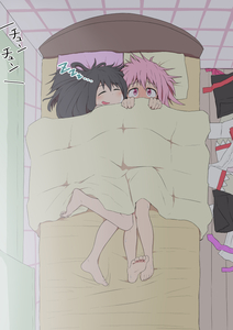 Rating: Safe Score: 2 Tags: 2girls after_sex akemi_homura barefoot bed bed_sheet bedroom black_hair blush clothes_on_floor clothes_removed comic covering_face cuddling curtains embarrassed hair_down kaname_madoka long_hair lying mahou_shoujo_madoka_magica messy_hair multiple_girls naked_sheet nude on_back on_bed on_side pillow pink_eyes pink_hair salpin scroll shared_blanket short_hair silent_comic sleeping under_covers yuri User: DMSchmidt